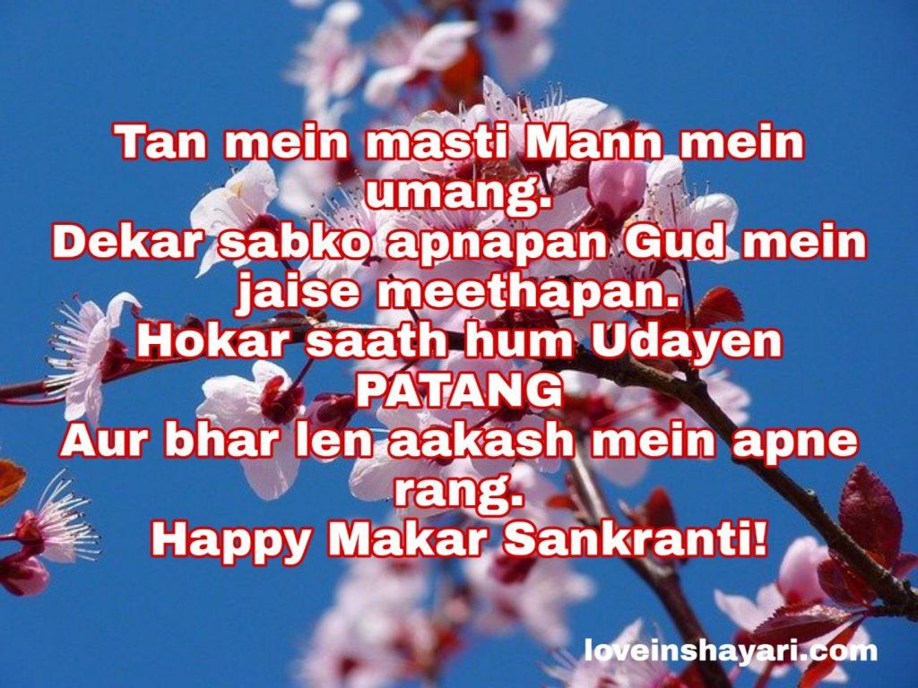 Makar Sankranti shayari in English