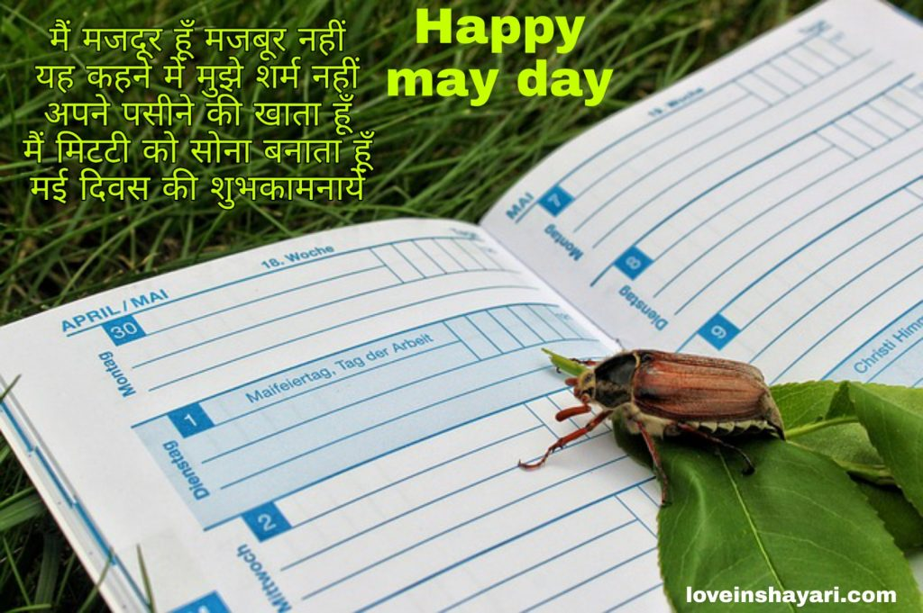May day wishes shayari