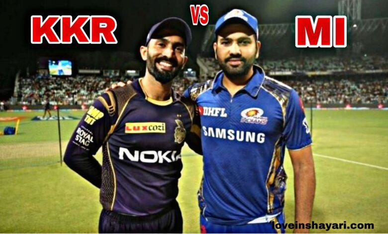 KKR vs MI status whatsapp status
