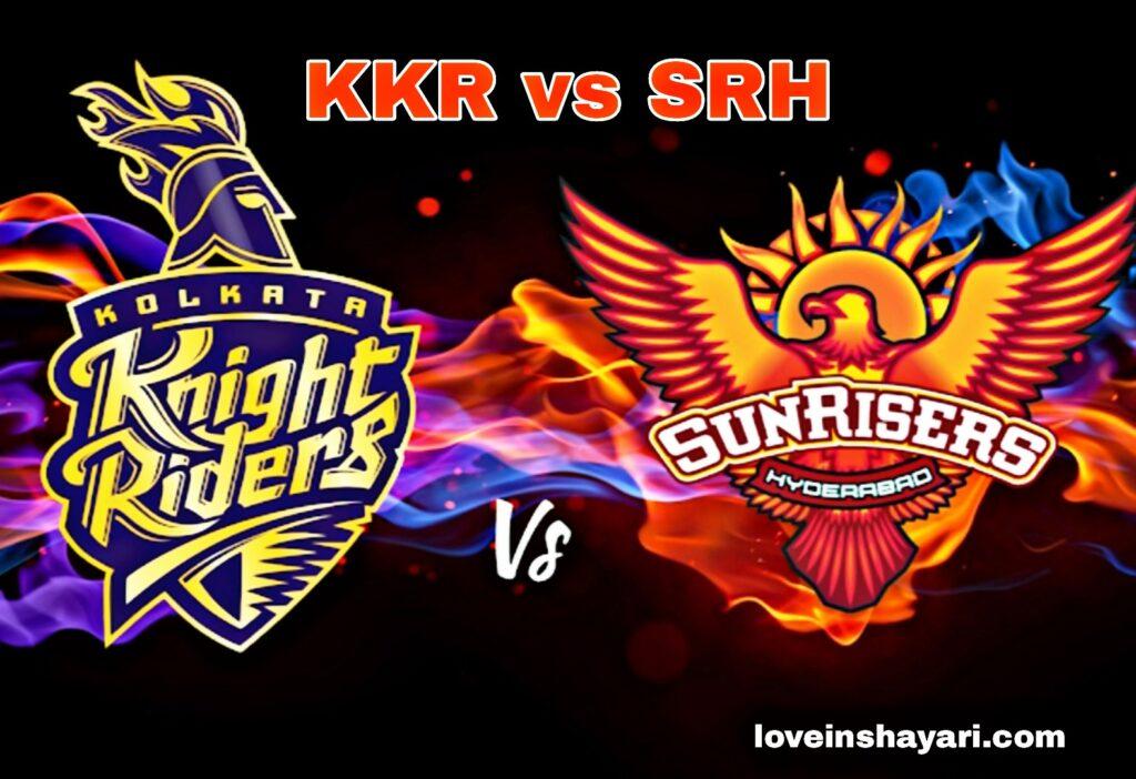 KKR vs SRH status whatsapp status