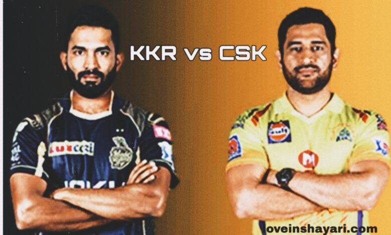 KKR vs CSK status whatsapp status